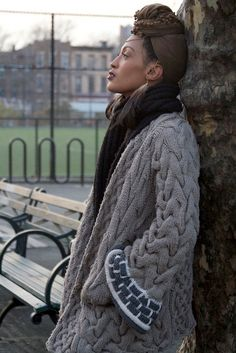 Oh. My. God.  Amazing Cable Knit Coat.  Won't attempt anything like this, but WOW