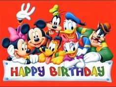 """""""Happy Birthday to You"""" starring Mickey Mouse and the Disney House of Mouse Orchestra Happy Birthday Mickey Mouse, Cute Happy Birthday, Happy Birthday Pictures, Happy Birthday Messages, Happy Birthday Greetings, Disney Birthday Wishes, Birthday Quotes, Disneyland Birthday, Fairy Birthday"""