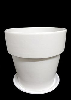 10in White Clay Pot