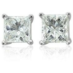 These modern and simple diamond stud earrings are beautifully set in precious 14k gold with sparkling dazzling icy white Princess Cut diamonds. The simply but very stylish design makes the Princess Cut Diamond Stud Earrings the most popular and wanted diamond jewelry for both male and female. All our signature diamond stud earrings are available in white gold and yellow gold versions.'