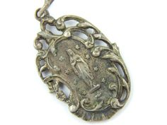 Unique Vintage French Immaculate Conception - Our Lady of Lourdes Catholic Medal - Religious Charm by LuxMeaChristus
