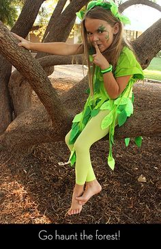 No-Sew Leaf Fairy Halloween Costume | Alpha Mom