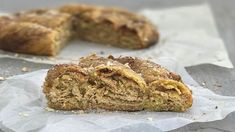 A delicious, traditional Cypriot pie gets a make over to suit the home baker. A sweet pastry coil of creamy tahini, honey and almonds. Greek Recipes, Pie Recipes, Cooking Recipes, Recipies, Round Cake Pans, Round Cakes, Greek Sweets, Sweet Pastries, No Bake Pies