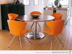 #Comedor con sillas naranjas #comedor #diningroom #naranja #orange
