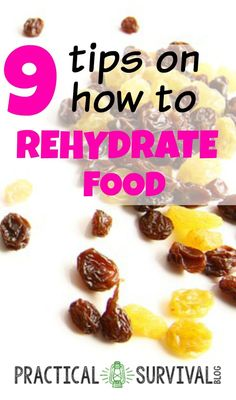 9 Tips on how to rehydrate food. Tip is really good and one I wouldn't have thought of. Survival Food Kits, Emergency Food Supply, Survival Prepping, Survival Blog, Survival Skills, Wilderness Survival, Survival Gear, Survival Quotes, Prepper Food