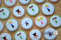 Gymnastic Kid Cookies quantity: 12 by SeahorseSweets on Etsy