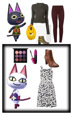 """""""Animal crossing cats inspired outfits pt.2"""" by jade-alicia-sherry ❤ liked on Polyvore featuring Sam Edelman, Dorothy Perkins, MAC Cosmetics, Revlon, Clarks, Maison Margiela, J Brand and Le Nom"""