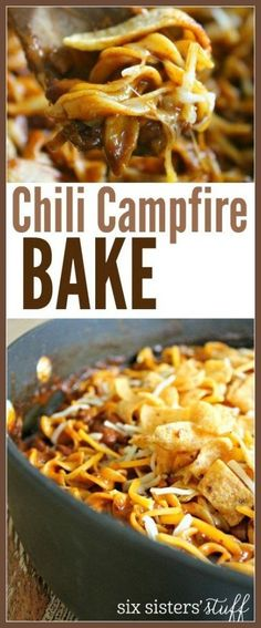 Kids Meals Chili Campfire Bake from Six Sisters' Stuff Vegetarian Meals For Kids, Kids Cooking Recipes, Healthy Meals For Kids, Vegetarian Recipes, Healthy Recipes, Kid Recipes, Whole30 Recipes, Oven Cooking, Camping Cooking