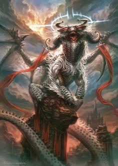 wd by nekoemonn on DeviantArt Monster Concept Art, Alien Concept Art, Creature Concept Art, Fantasy Monster, Monster Art, Mythical Creatures Art, Weird Creatures, Fantasy Creatures, High Fantasy
