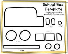 Create a School Bus Feltie for flannel or felt board using a FREE Printable School Bus Craft Template. School Bus Art, School Bus Crafts, School Bus Safety, Back To School Crafts, Magic School Bus, School Buses, Free Preschool, Preschool Activities, Preschool Shapes