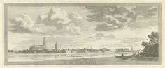 Jan Caspar Philips   Gezicht op Zaltbommel, Jan Caspar Philips, 1740   Gezicht op de stad Zaltbommel, gezien vanaf de Waal. Links de Sint Maartenskerk.