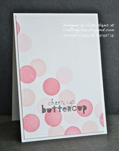 Stampin' Up ideas and supplies from Vicky at Crafting Clare's Paper Moments: Geometrical to cheer someone up