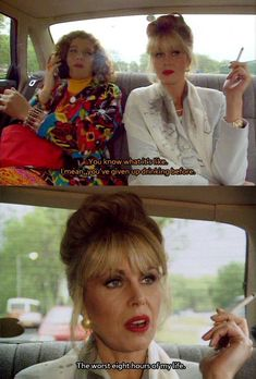 'Absolutely Fabulous': 35 Life Lessons Learned From Eddy And Patsy You are a fabulous, wonderful individual, sweetie. Alcohol is the nectar of the gods British Sitcoms, British Comedy, Absolutely Fabulous Quotes, Patsy And Eddie, Patsy Stone, Jennifer Saunders, Joanna Lumley, Golden Girls, Casual Elegance