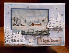 Joulukortti- Frame, Cards, Painting, Home Decor, Homemade Home Decor, Painting Art, Paint, Interior Design, Frames