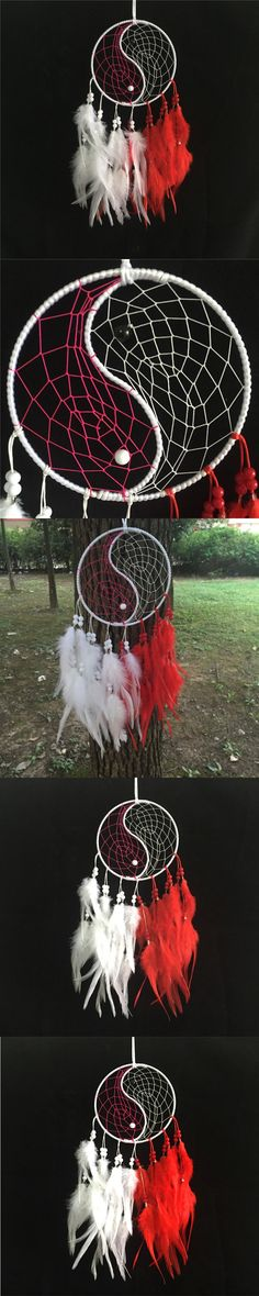 2016 new fashion hot gift Chinese kung fu tai chi style Dreamcatcher Feather Wind Chimes Indian Dream Catcher pendant gift $8.99