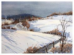 Son Do Watercolor, Winterscape