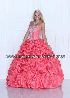 Ballon Kleid Abendkleid Ballkleid Brautkleid in Lachs
