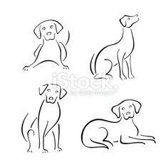 simple dog line drawings - Google Search