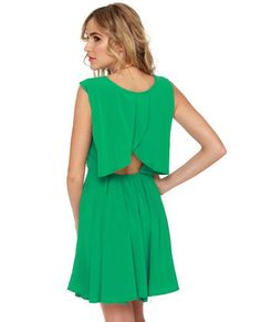 Finishing Touch Sleeveless Green Dress,    I have alot of weddings to go to!