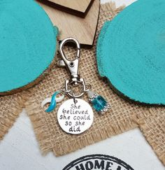 TW-6 Eating Disorder Recovery Addiction Recovery Awareness Keychain She Believed She Could So She Did Keychain Car Charm Gift For Her