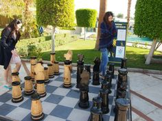 The chess board at Hilton Hurghada, Egypt