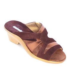 Another great find on #zulily! Bronze Suede Vicky Sandal by Curvetures #zulilyfinds $39.99