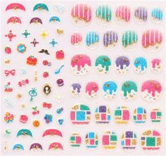 sweets dots  fingernail glitter stickers from Japan 1