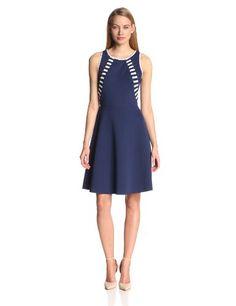 Rachel Roy Collection Women's Bonded Techno Jersey Flared Dress, Navy, 2 Rachel Roy http://www.amazon.com/dp/B00G97JLJY/ref=cm_sw_r_pi_dp_xAA8vb0KYAM4G