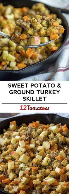Sweet Potato & Ground Turkey Skillet