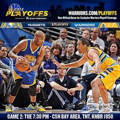 ITS GAME DAY!!! The #Warriors are looking to even the series in tonights Game 2 matchup in Denver. What do you think will be the biggest key to the game? Game Preview @ warriors.com/gameday. And for those looking for todays clue in our Playoff Ticket Scavenger Hunt, you might want to check out our Tumblr (officialwarriors.tumblr.com).