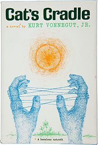 Cat's Cradle by Kurt Vonnegut:  After turning down his original thesis, in 1971 the University of Chicago awarded Vonnegut his Master's degree in anthropology for Cat's Cradle. via wikipedia #Books #Kurt_Vonnegut #Cats_Cradle #wikipedia