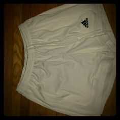 Adidas White Shorts White Shorts, great condition, rarely worn, climalite material Adidas Shorts
