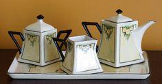 Service à thé en porcelaine art déco Art par CherryOrchardAttic