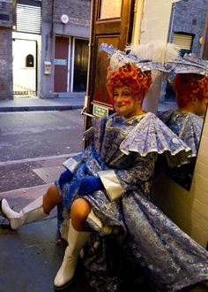Glorious backstage photographs of pantomime dames by Sally Mais