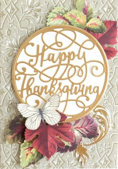 Anna Griffin Cards, Thanksgiving Cards, September 11, Fall Season, Die Cutting, St Patrick, Grateful, Embellishments, Card Ideas