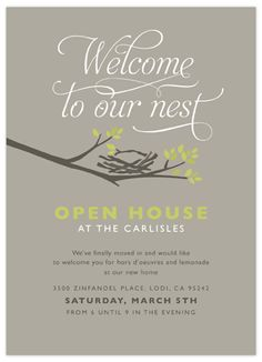 Good idea:House warming party invite - when moving to a new neighborhood, this might be a good way to meet the neighbors. House Warming Party Invites, House Party Invitation, Housewarming Party Invitations, Wood Invitation, Printable Invitation Templates, Invitation Ideas, Open House Parties, House Blessing, Moving Day