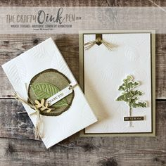 Rooted in Nature offers Trees and Textures from the NEW Annual Stampin' Up! Catalogue 2018. Gift card and Gift box packaging by Mikaela Titheridge, #6UK Independent Stampin' Up! Demonstrator, The Crafty oINK Pen. Supplies available through my online store 24/7
