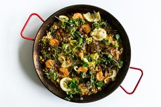 This was my first time making cauliflower rice and I was a little skeptical. Turns out my fears were for naught because the cauliflower cooked up tender crisp in that way you want vegetables to taste. This paella is light and flavorful and full of health. The flavors are the paella you know and love thanks to the saffron and smoked paprika, and I never missed the rice one bit!