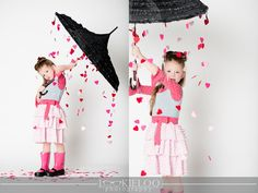 Valentine photo shoot idea. Rain or shine, you'll always be my Valentine.
