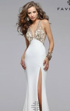 Beaded Neoprene Gown by Faviana S7730