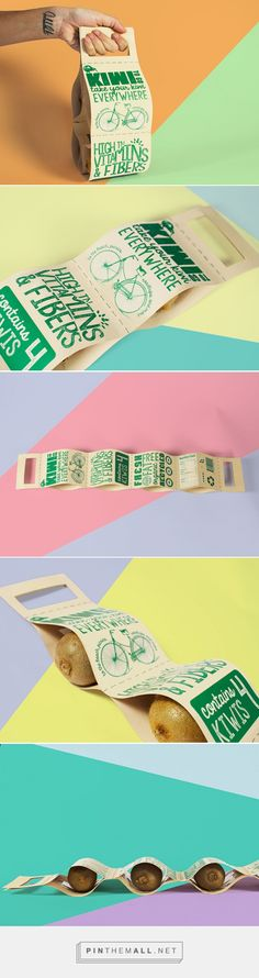 Kiwi To Go by Irene Acosta (Student project). Source: Daily Package Design Inspiration. Pin curated by #SFields99 #packaging #design #structural