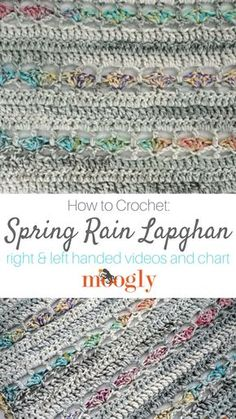 Spring Rain Lapghan - get the free crochet pattern, video tutorials, and chart on Moogly! Featuring Red Heart Collage ♥️
