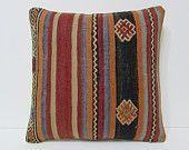 HAND WOVEN bohemian tapestry floor cushion cover antique throw pillow case modern throw pillow sham hippie fabric kilim pillow cover 19554