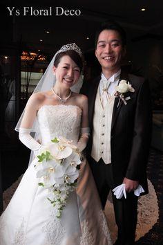 胡蝶蘭のキャスケードブーケ @ウェスティンホテル東京 ys floral deco