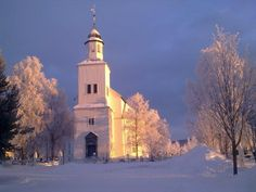 The church in Tynset, Hedmark, Norway. I love the colors and contrast of this picture!