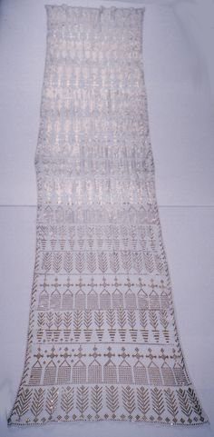 Antique Egyptian white and gold assuit tulle by HilarysBazaar, $585.00
