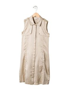 Gucci Girls' Silk-Blend Shirtdress
