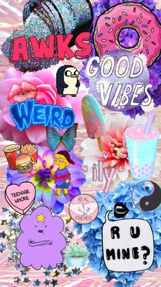 Random collage background for the iPhone✨ (my edit but transparents are from Tumblr)