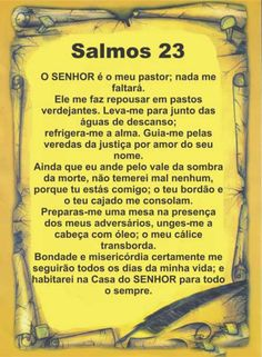 PERGAMINHO SALMO 23 :: SHOP DO PASTOR                                                                                                                                                                                 Mais