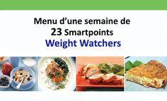 menu of 23 Weight Watchers Smartpoints, a menu tailored to the . Menu Weight Watchers, Weight Watchers Smart Points, 300 Workout, Menu Ww, Sport Diet, Menu Dieta, Batch Cooking, 200 Calories, Nutrition Guide